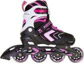Move Arrow Inlineskates - Maat 38-41 - Meisjes - zwart/roze/wit