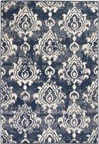 Vloerkleed modern paisley ontwerp 140x200 cm beige/blauw