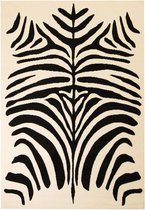 Vloerkleed modern zebra ontwerp 120x170 cm beige/zwart