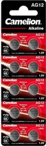 Camelion Alkaline Knoopcel AG12 / LR43, 1,5 Volt, 0% HG - 10 stuks