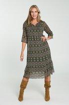 Cassis - Female - Lange jurk met etnische print  - Groen