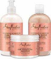 Shea Moisture Coconut & Hibiscus Curl & Shine Care Pakket
