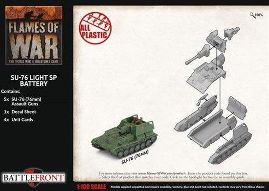 Afbeelding van het spel SU-76 Light SP Battery (Plastic)