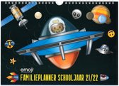 Emoji - Space Monkey - Schooljaar Familieplanner - 2021-2022