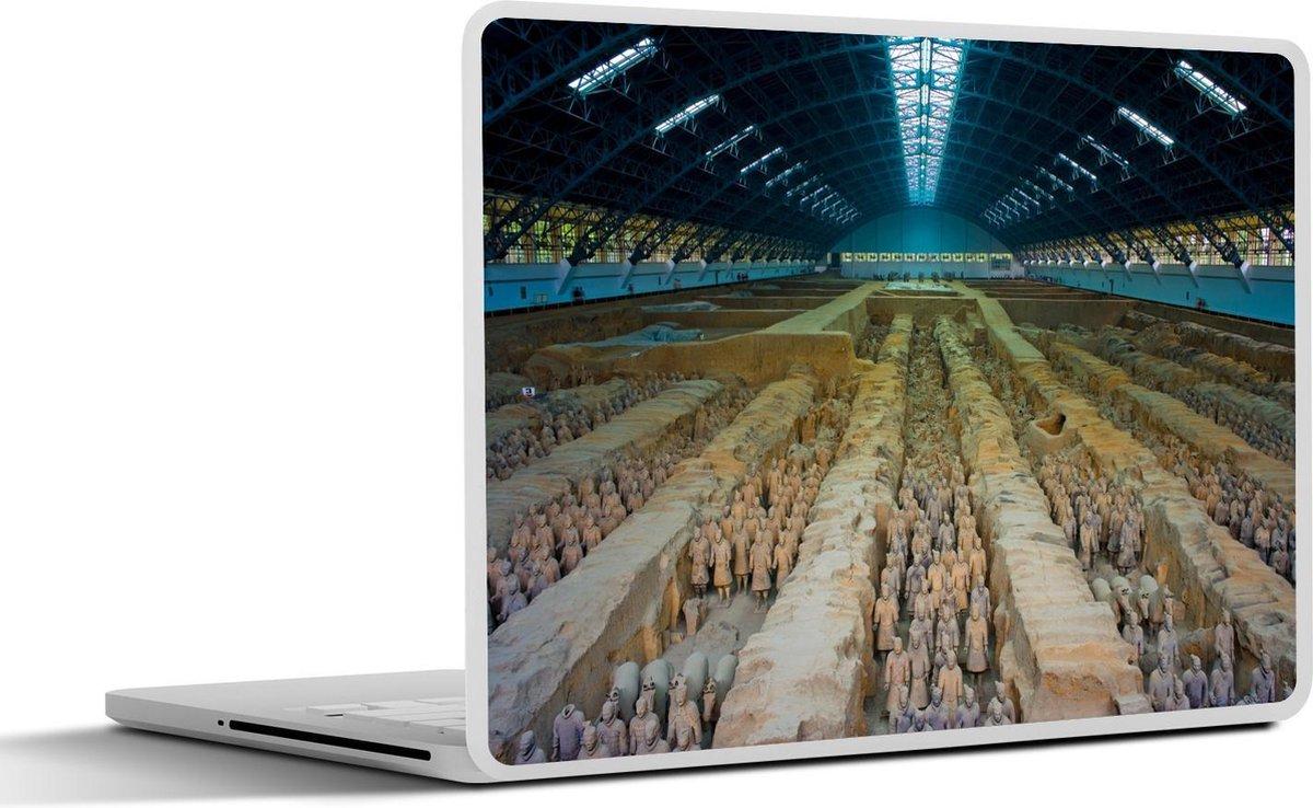 Laptop sticker - 15.6 inch - Het Terracotta leger van de keizer Qin Shi Huangdi in het Aziatische Xi'an