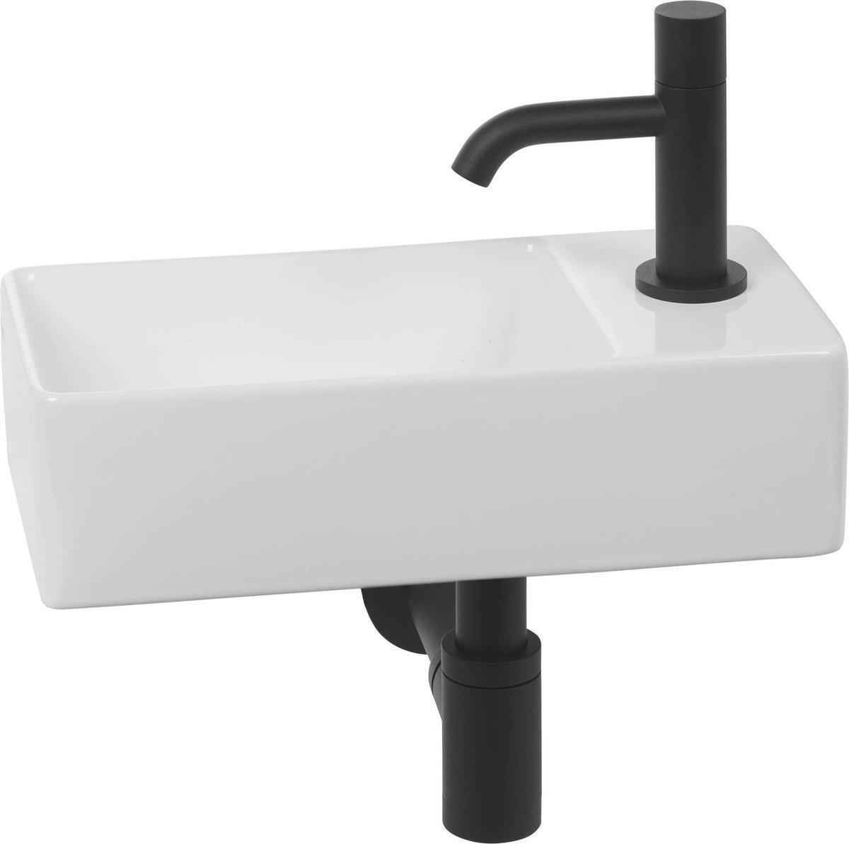 Clou New flush 3 Complete Fonteinset rechts Wit/Zwart