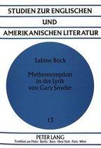 Mythenrezeption in Der Lyrik Von Gary Snyder