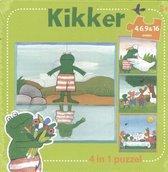 Boek cover Kikker - Kikker 4 in 1 puzzel van Max Velthuijs