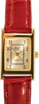 Luigi Vicaro Horloge Croco Rood - Uurwerk 20 mm