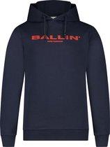 Ballin Amsterdam Kids Logo Hoodie - Navy / Rood - Slim fit