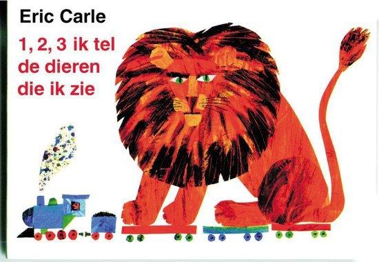 Cover van het boek '1,2,3 ik tel de dieren die ik zie' van Eric Carle