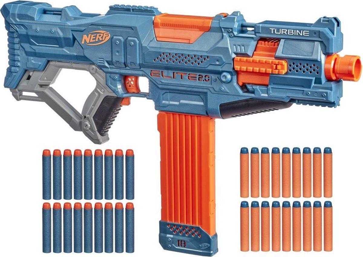 NERF blaster Elite 2.0 Turbine junior blauw/oranje 37 delig
