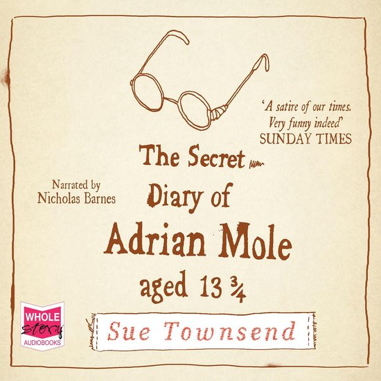 Boek cover The Secret Diary of Adrian Mole, Aged 13 3/4 van Sue Townsend (Onbekend)