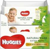 Huggies billendoekjes Natural Care Extra Care met Aloe Vera 56 x 8 stuks
