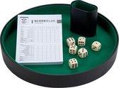 Pokerpiste, beker, dobbelstenen en boekje - 26 CM