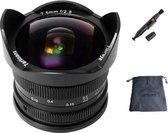 7artisans 7.5mm F2.8 Mark II Fish-Eye manual focus lens Fujifilm systeem camera + Gratis lenspen en lens tas