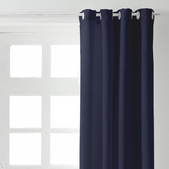Kant en Klaar Gordijn Donkerblauw - 140cm x 260cm