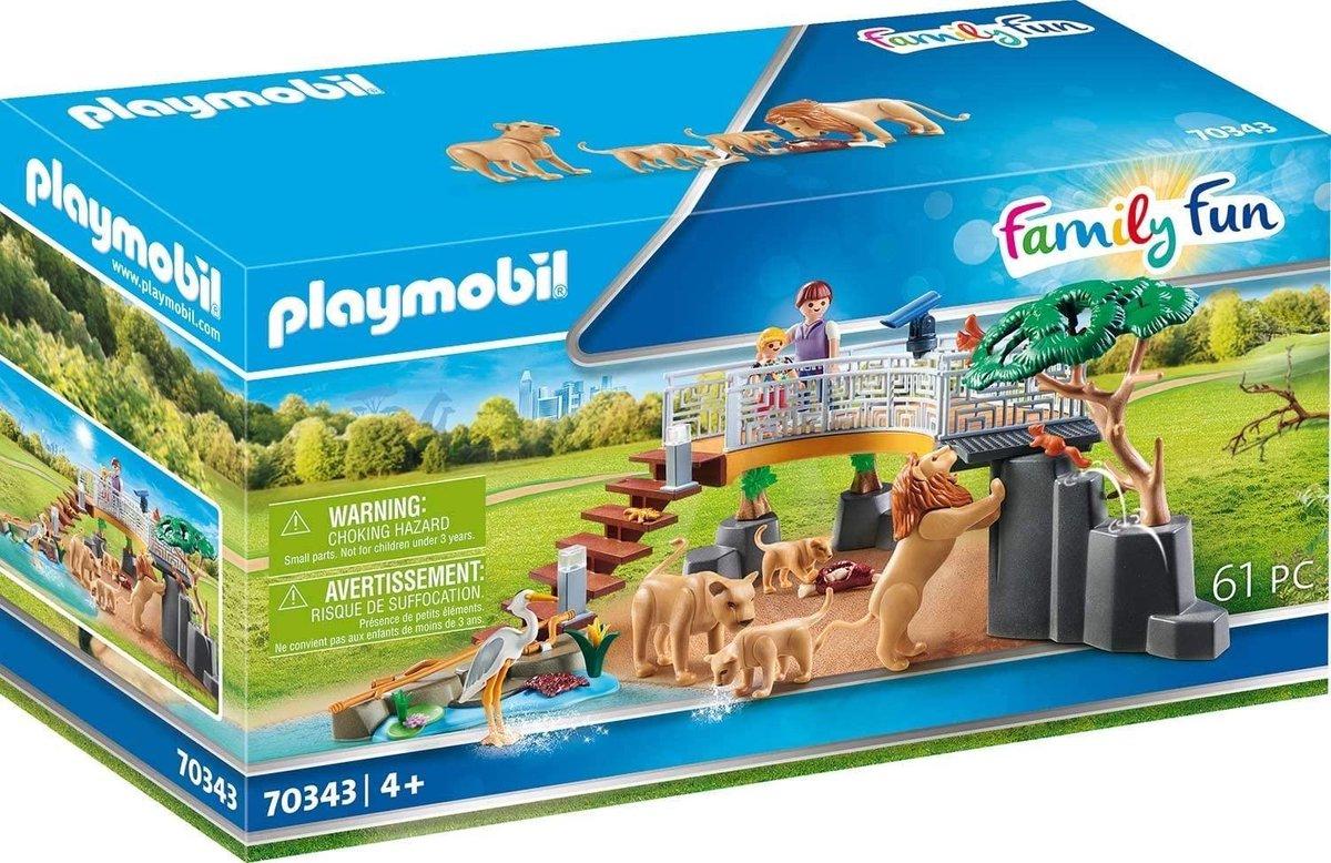 PLAYMOBIL Family Fun Leeuwen in het buitenverblijf - 70343