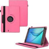 Universele Tablet Hoes voor 10 inch Tablet - 360° draaibaar - Roze