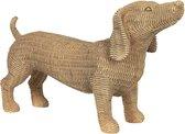 Clayre & Eef | Decoratie hond 39*14*24 cm | Bruin | Polyresin | Hond | 6PR2924
