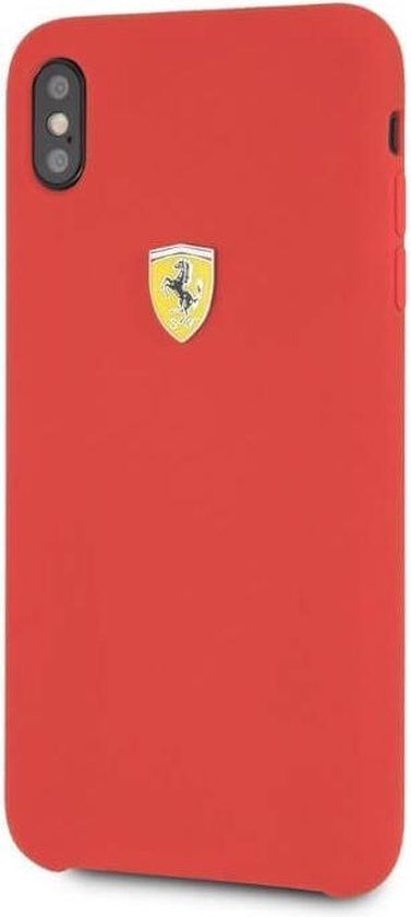 Ferrari Plain Backcover Hoesje iPhone XS Max - Rood
