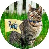 Halsband voor katten Blauw, rood of roze