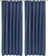 Beautissu Blackout Gordijn - Verduisterend - 2 stuks - 245x140 cm - Blauw
