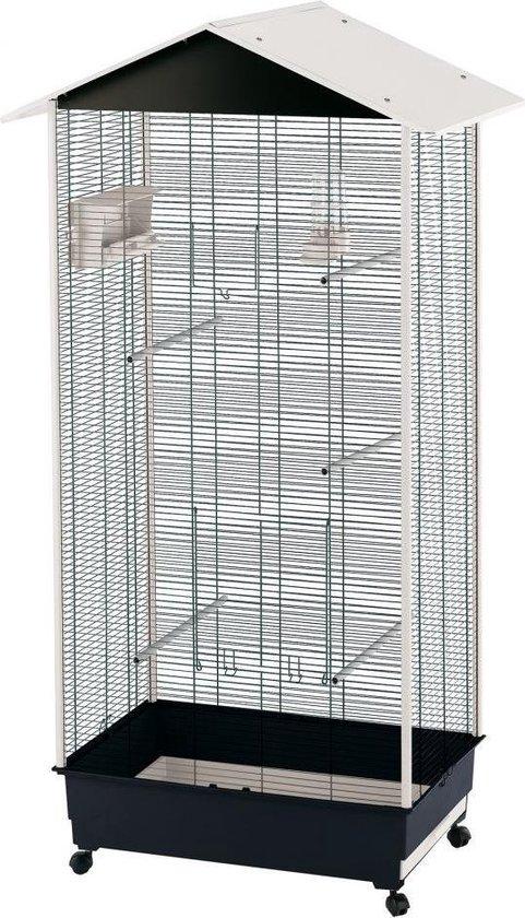 Ferplast Vogelkooi Voliere Nota - Wit/Zwart - 58 x 82 x 166 cm