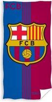 Fc Barcelona Strandlaken 70 X 140 Cm Katoen Blauw/rood
