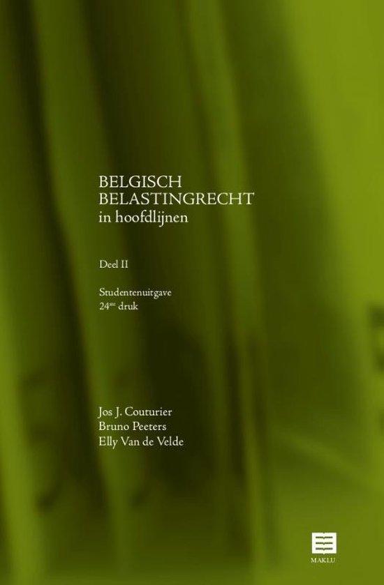 BELGISCH BELASTINGRECHT in hoofdlijnen Deel II - Jos J. Couturier |