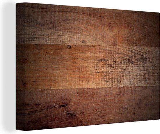 Bol Com Houten Planken Als Achtergrond Canvas 140x90 Cm Foto Print Op Canvas Schilderij