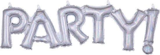 Amscan Ballon Party! 83 Cm Folie Zilver Holografisch