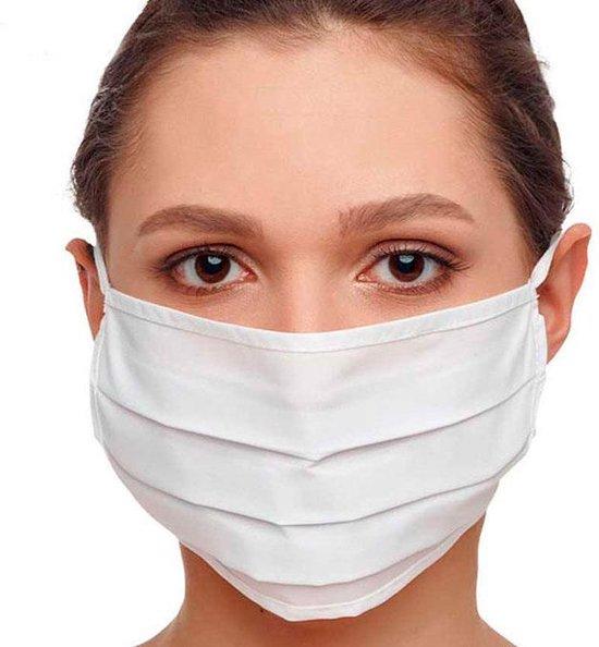 Afbeelding van Mondmasker 100% Katoen – Wasbaar – Mondkapjes – Mondkapje – Niet Medisch - Wit