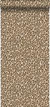ESTAhome behang panterprint bruin - 139152 - 0.53 x 10.05 m