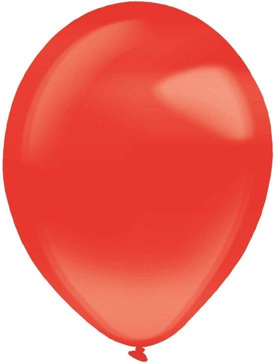 Amscan Ballonen 13 Cm Latex Kristalhelder Rood 100 Stuks