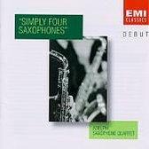 DEBUT  Simply Four Saxophones / Adelphi Saxophone Quartet