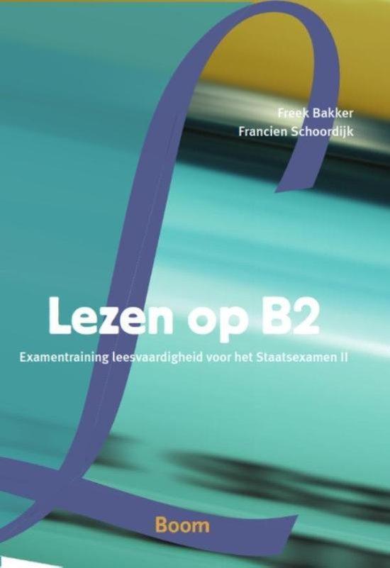 Boek cover Lezen op B2 van Freek Bakker (Paperback)