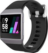 Ionic sport band - zwart - Geschikt voor Fitbit - ML - Horlogeband Armband Polsband