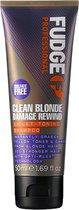 Fudge Clean Blonde Damage Rewind Violet Toning Zilvershampoo 50 ml - Zilvershampoo vrouwen - Voor