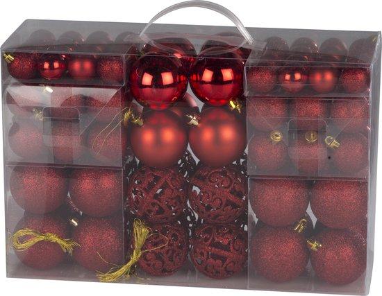 Christmas Gifts - 100 kerstballen - Rood