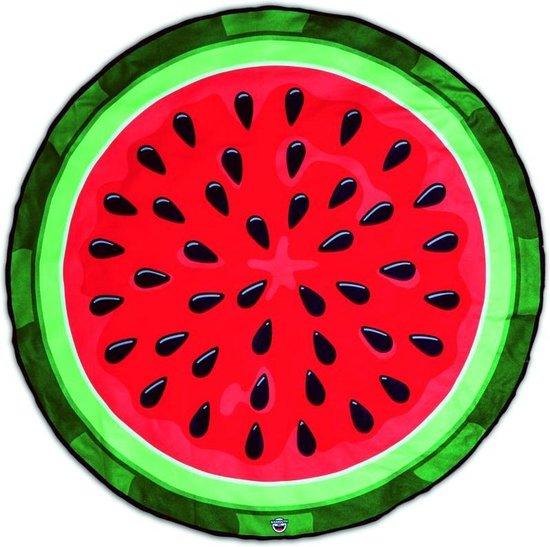 Watermeloen Strandlaken - Beach Blanket Watermelon - Big Mouth badlaken -  ø 1,5 meter - BigMouth
