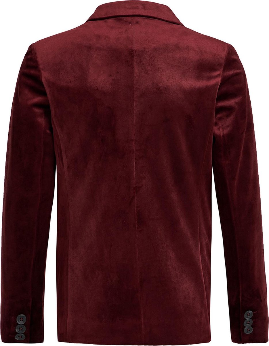 WE Fashion Jongens velvet slim fit blazer