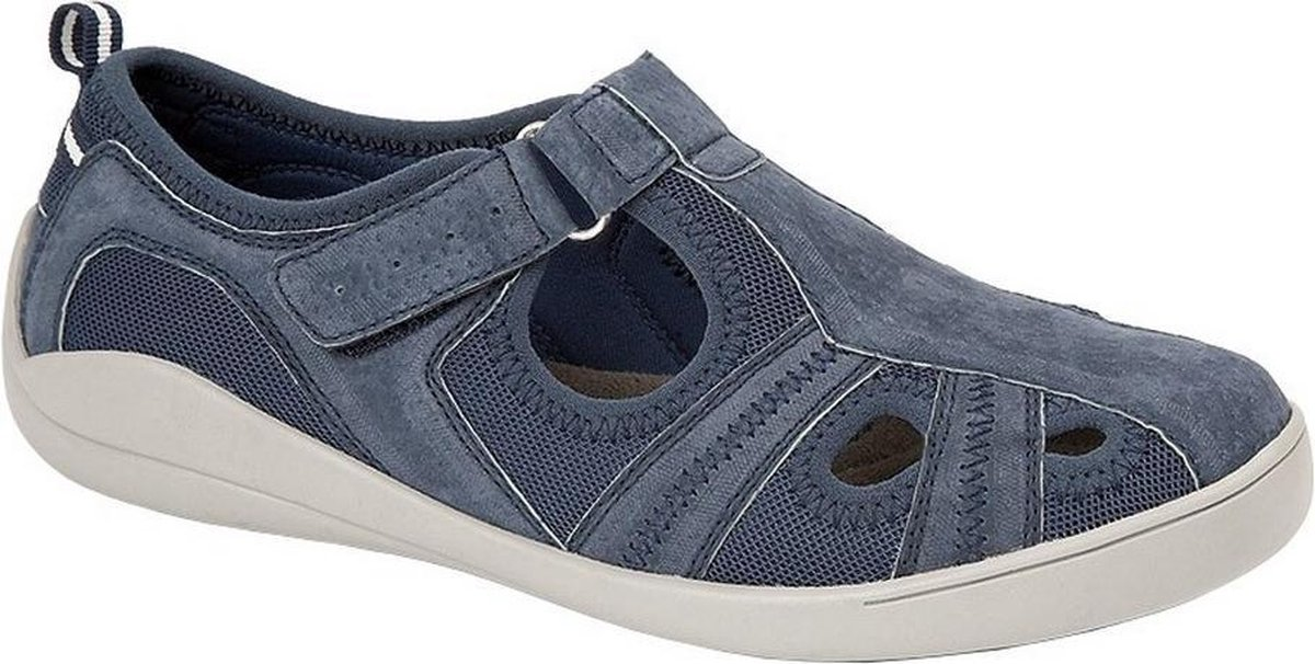 Boulevard Dames/dames Leder/Textiel Casual Shoe (Marine)