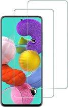 Samsung Galaxy A51 Screenprotector Glas - Tempered Glass Screen Protector - 2x
