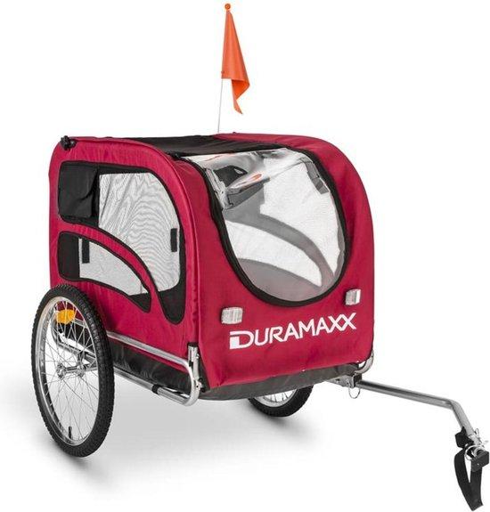 "DURAMAXX King Rex Hondenfietskar Rijwielaanhanger - 250 liter - van dieren tot 40 kg - 16"" luchtbanden - staal"