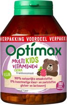 Optimax Kinder Multi EXTRA framboos - 180 kauwbeertjes
