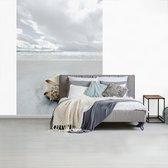 Schelp op een wit strand fotobehang