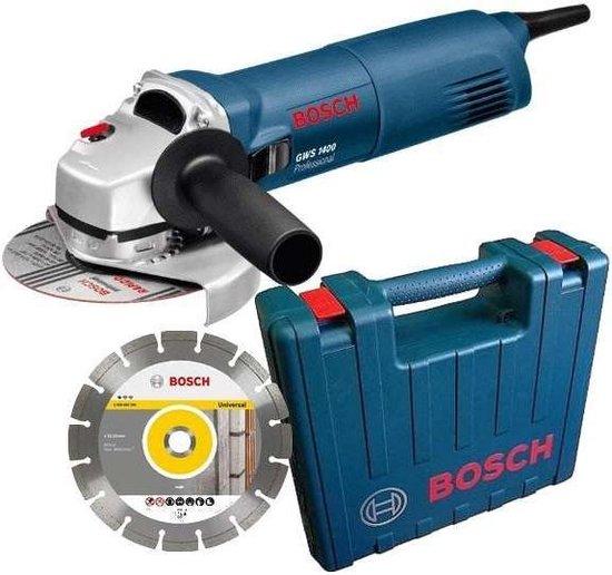 Bosch Professional GWS 1400 - Haakse slijper - 1400 W - 125 mm