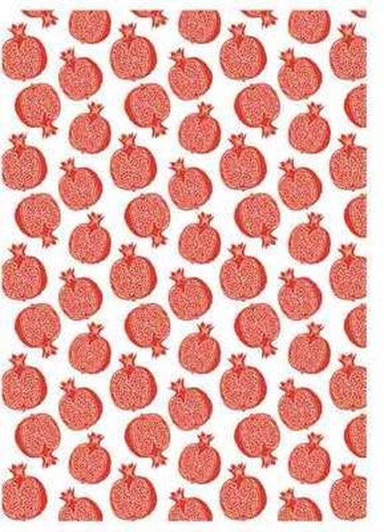 Clarysse Theedoek Small Pomegranate Rood 50x70cm