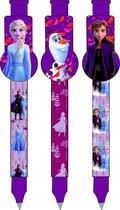 Disney Pennenset Frozen Ii Meisjes 13,5 X 2 Cm Paars 3 Stuks